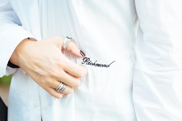 Cristina Lodi, camicia bianca john richmond, mfw, anelli pietro ferrante