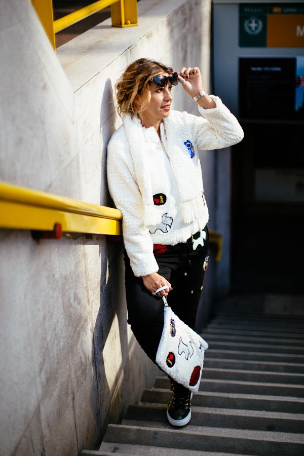Cristina Lodi, cristinaeffe, 2 fashion sisters, mfw, stokton, pantalone pulp, giacca babylon