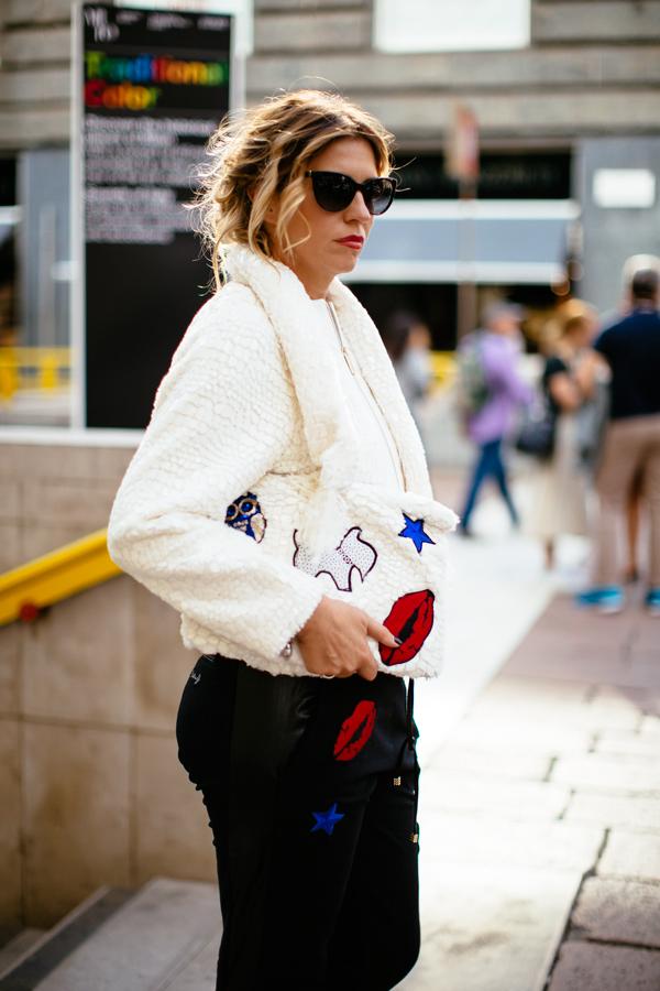 Cristina Lodi, look cristinaeffe, pantalone pulp, giacca babylon