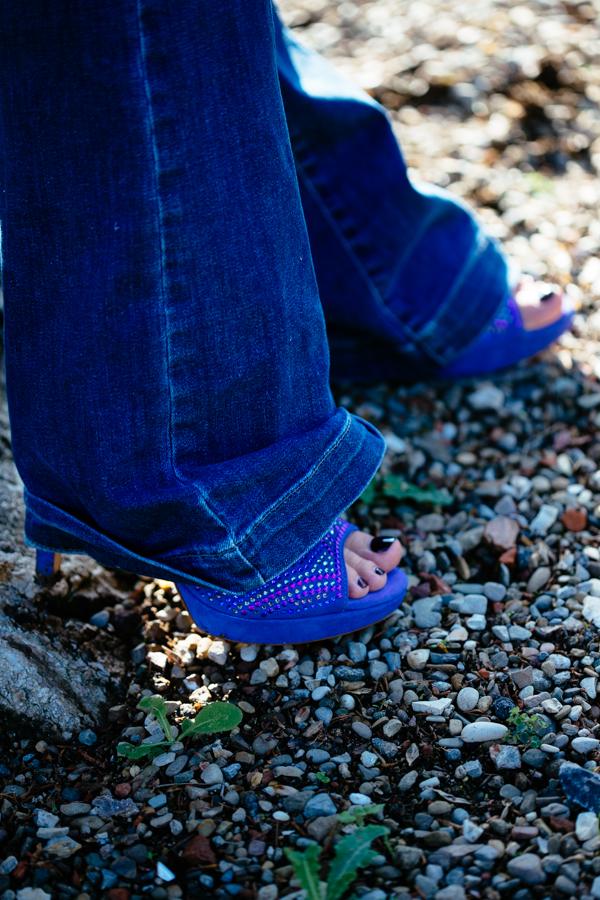 Cristina Lodi, jeans roy rogers, sandali pietro ferrante