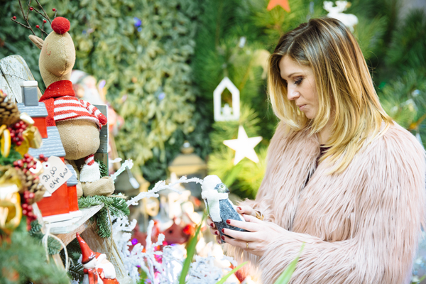 Cristina Lodi, natale, stiatti fiori, pelliccia kaos