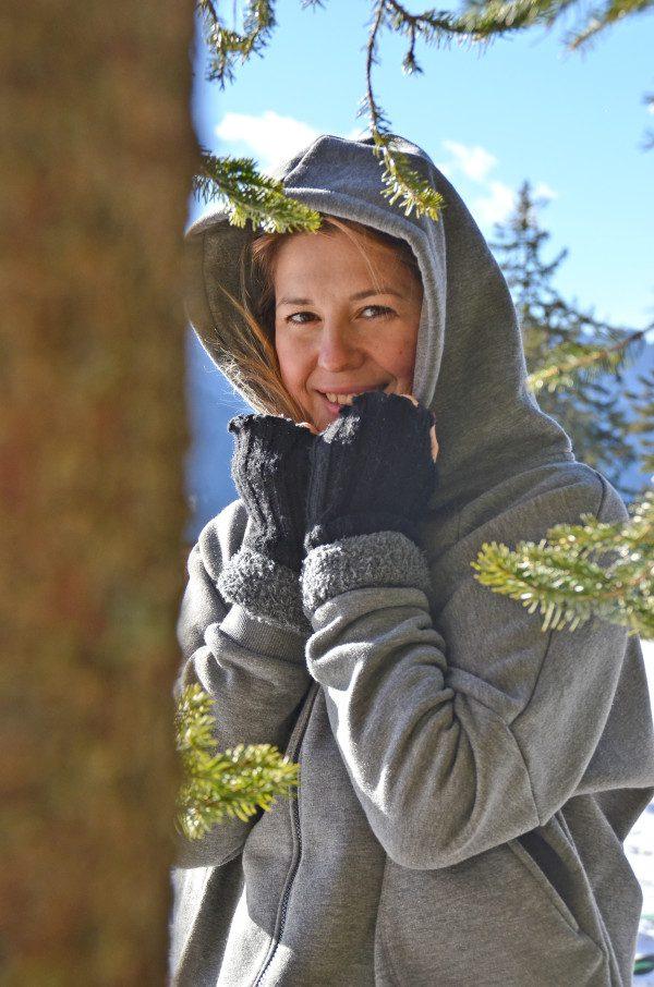 Cristina Lodi, Felpa Two Play, guanti bugie by coccoli, san vigilio di marebbe, montagna