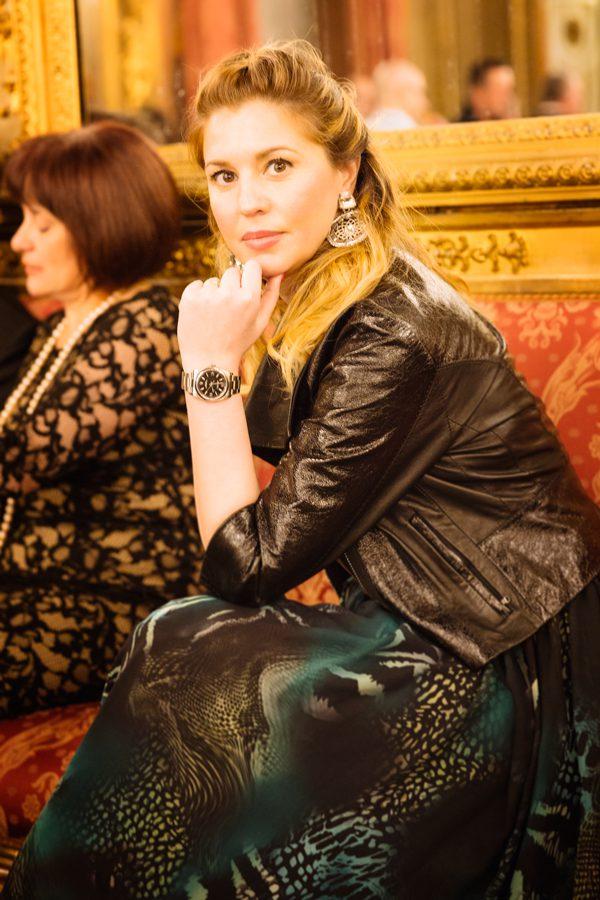Cristina Lodi, ottaviani, tiffany, abito rosso e lavanda, rolex, immagine italia, palazzo borghese