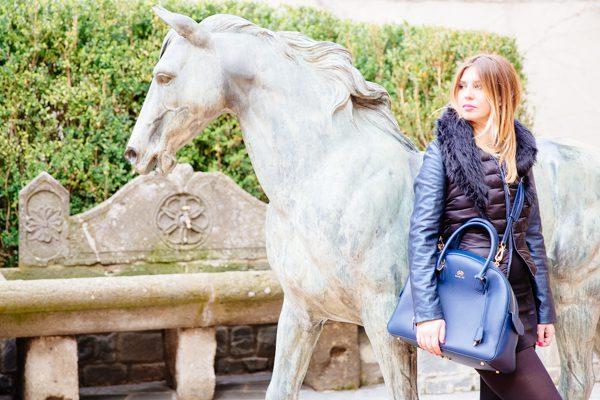 Cristina Lodi, borsa Almavida Salce 197, Giubbotto Imperfect