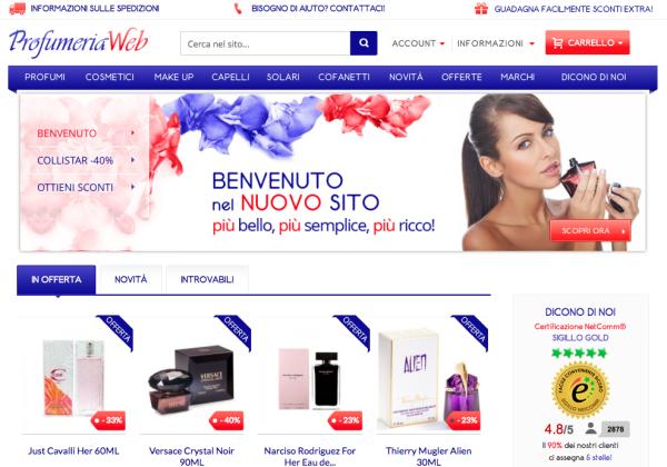 profumeriaweb, profumeria online
